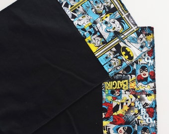 Set two themed placemats Batman and Batgirl