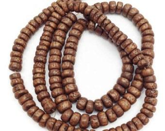 Salwagperlen, Brown, 10mm, 1 strand, 74 piece, PUK