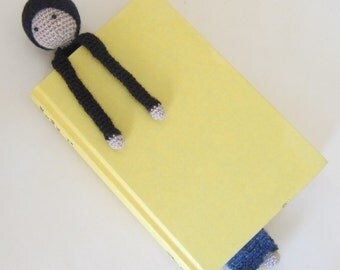 Book Buddy Little Gnome Bookmark - Midnight Ombre 2 - Crochet Amigurumi Gift, Toy, Finished Product
