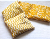 SALE >> Payne Killer Aromatherapy Pillow  |  Hot Cold Therapy Pack  | Eucalyptus Lavender Vanilla Unscented | Yellow Swirls | Gifts Under 20