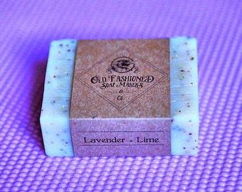 Lavender + Lime.  Cold process soap. Lavender Soap