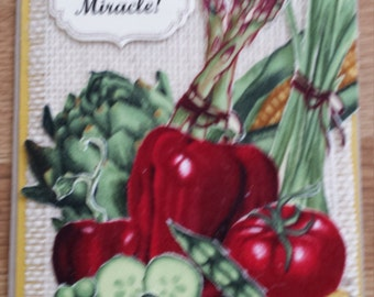 Vegetable All Occasion Handmade Card