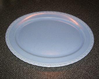 Vernon Kilns California Pottery Platter, Vernon Kilns Blue Platter Native California Vintage