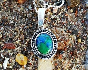 Lapis Lazuli & Eilat stone pendant