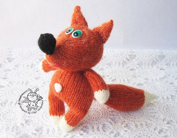 Knitting Toys In The Round : Toy for sleep fox small babies amigurumi