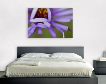 Fine art photography purple flower print with or without quote mother quotation petals close-up photo home decor mural violet