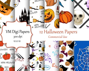 Halloween Digital Paper, Witch Digital Paper, Halloween Paper, Digital Paper, Paper Halloween, Halloween Background,  Halloween, #6597