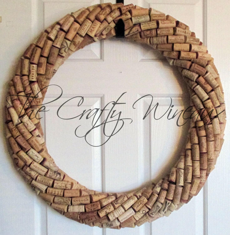 Cork Wreath: Extra Large 25 Handmade Wine Cork Wreath Without