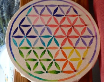 table flower of life Rainbow