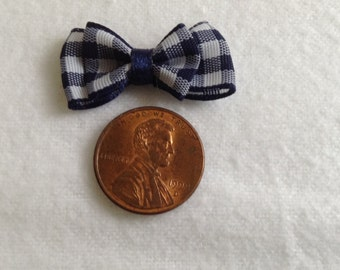 Tiny Bow Tie Embellishments for Crafts, Cards, Scrap booking,  Qty 10