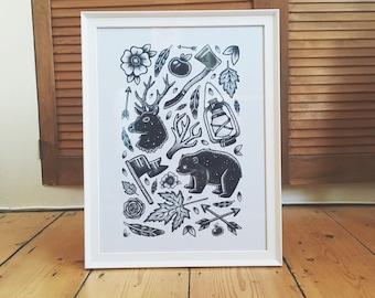 Wilderness Print - A3