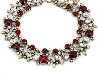 Elegant full colorful crystal necklace