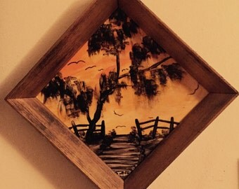 Joesph lord signed tile painting