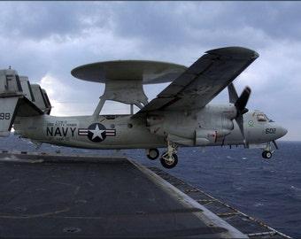 24x36 Poster . E-2C Hawkeye (Vaw-115) Uss Kitty Hawk (Cv 63)