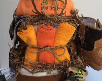 Camo Baby Diapercake Shower Gift Centerpiece Hunting Fishing