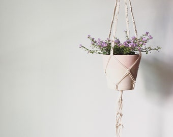 macrame plant hanger - home decor - plant hanger -natural decor - rustic home decor - cotton