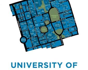 University of Toronto Map Print
