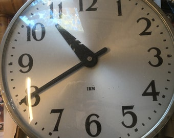 IBM Industrial wall clock