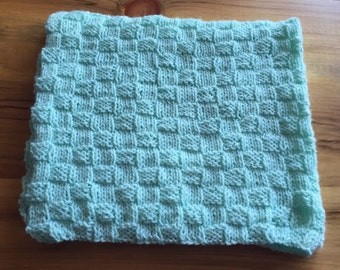 Pastel Green Baby Blanket, Mint Green Baby Blanket