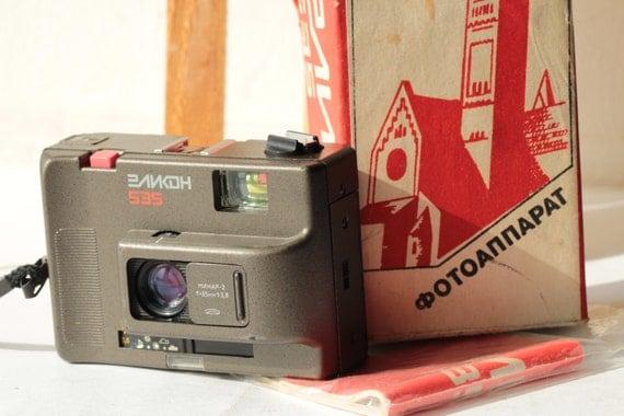 Ussr Elikon-535 small MMZ 35mm camera lens Minar-2 KIT MINT and Passport and  Box