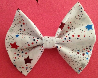 New! Large Patriotic Hair Bow