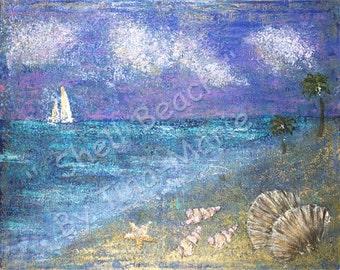 Shell Beach - Original Canvas Painting