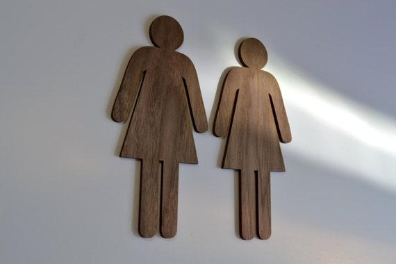 männlich weiblich bad sign mann frau wc schilder von oldtoystory, Hause ideen