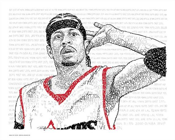 """Willkommen auf Etsy!Willkommen auf Etsy!Deine DatenschutzeinstellungenAllen Iverson Poster - Philadelphia 76ers - kostenloser Versand - 16 """"x 20"""" - NBA Poster - Basketball Dekor - Philadelphia Kunst - Mann Höhle"""