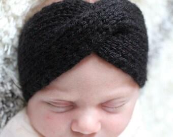 Knit turban earwarmer