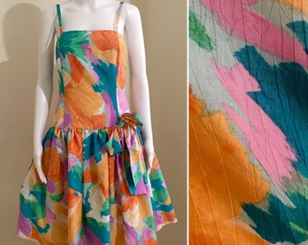 80s retro Gelato watercolour party prom dress size 10