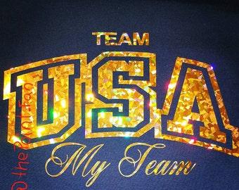 USA Gold My Team Hologram T-shirt