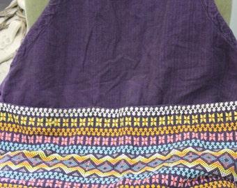 Vintage 100% Cotton Woven Guatemalan Apron