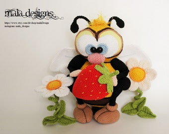 big bee, crochet pattern by mala designs