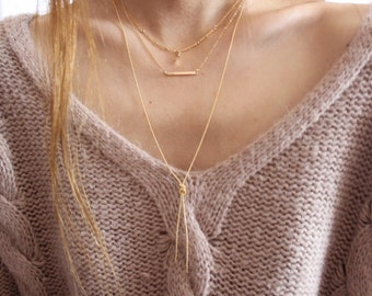 All Tied Up Knotted Chain Necklace in 14k Gold Filled or Sterling Silver