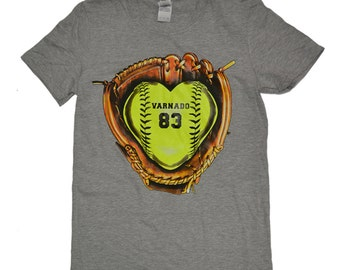 Softball Glove Monogram Name/Number was 24.95 NOW 14.97