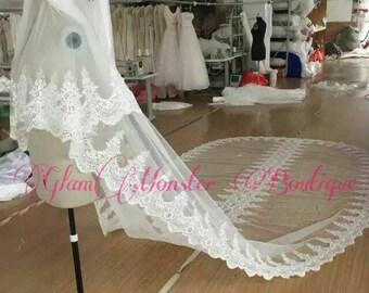 Couture Pure Elegance Dentelle Bridal Veils