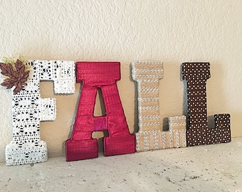 Fall Decorations, Fall Home Decor, Fall Letters, Decorative Letters, Seasonal Home Decor, Fall Mantle, Fall Wedding