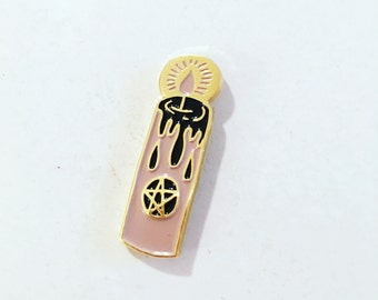 Muted Pink Candle Enamel Pin
