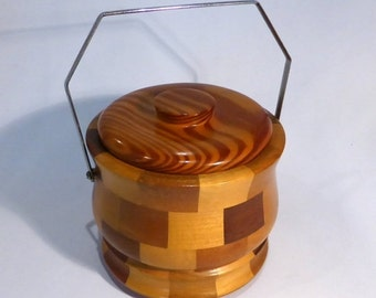 30% off sale Cambridge ware wooden ice bucket - original from the 1970's