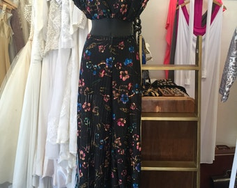 Sheer Floral Two Piece