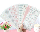 Cute Mini Bitty VALENTINES DAY Heart & Flower Paper Favour Party Bags/Envelopes/5PCS