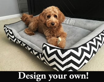 Large Dog Beds | Match your home decor | Personalized Pet Bed | Large Pet Bed | Embroidered Dog or Cat Bed | XLarge Dog Bed