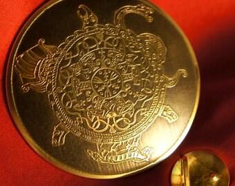 Viking's belt buckle brass