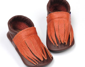 Leather baby shoes handmade moccasins toddler halloween costume