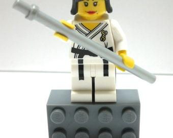 Lego Fridge Magnet MARTIAL ARTIST Minifigure with Fighting Stick - Kung Fu - Karate - Tae Kwon Do (CUSTOM)