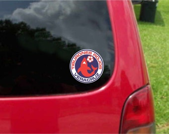 2 Pieces Veracruz Tiburones  Futbol Mexico  Decals Stickers Full Color/Weather Proof. U.S.A Free Shipping