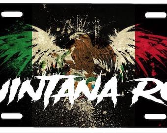 """Quintana Roo  Mexico Aluminum License Plate Placa  6"""" x 12"""""""