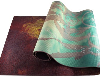 Two Sided Yoga Mat - Pick ANY Two Designs (Adult Mat - Just message me your 2 design choices)