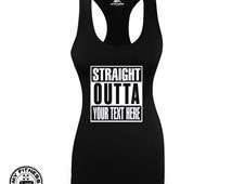 Straight Outta, Women Workout Tank, Racerback Tank, Gym Tank Tops For Women, Womens Funny Workout Tank, Workout Tank Top With Saying