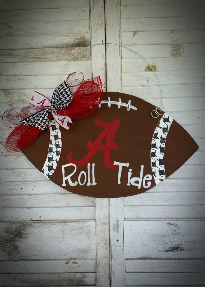 Alabama football door hanger roll tide for Alabama football wall mural